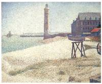 Lighthouse at Honfleur by Georges Seurat