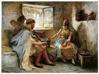 The Game of Chance by Frederick Arthur Bridgman