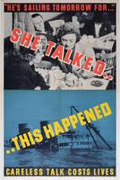 'She Talked....This Happened', WWII poster (colour