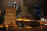 Cloud Gate Chicago Night