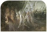 Fairies Looking Through Gothic Arch by Fitzgerald