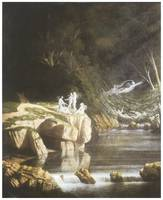 Fairies by a Rocky Stream by Francis Danby