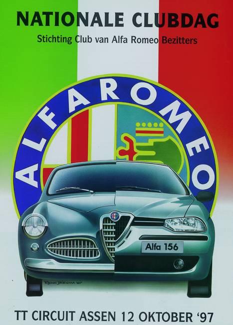 Alfa Romeo Poster By Rens Biesma - Alfa romeo posters