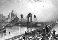 St. Petersburg, Fontanka & Trinity Cathedral, 1836