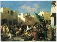 Fanatics of Tangier by Eugene Delacroix