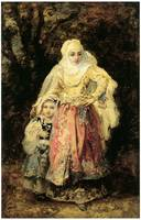 Oriental Woman and Her Daughter by de la Pena