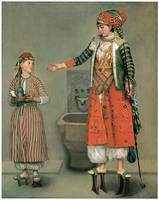 Frankish Woman and Her Servant by Jean Liotard