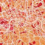"""""""London Map Art"""" by ModernArtPrints"""