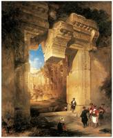 Gateway Great Temple at Baalbek by David Roberts