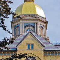 """""""Notre Dame Gold Dome"""" by lwoodburn"""