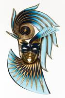 Masquerade Mask in blue and gold