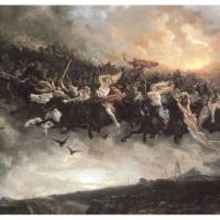 """The Wild Hunt of Odin by P N Arbo"" by ArtLoversOnline"