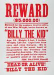 Reward Poster for Billy the Kid (1859-81) (litho)