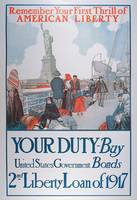 American War Bonds Poster, 1917 (colour litho)