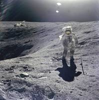 Charles M. Duke, Jr. at Plum Crater, Apollo 16