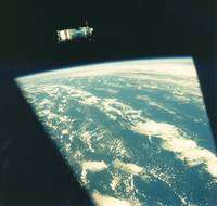 Soviet Soyuz Spacecraft in Earth Orbit, 1975