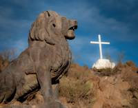 San Xavier Lion and Cross