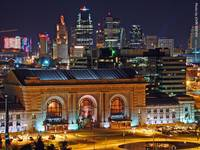 Union Station & KC Skyline at Night, 3 Sept 2010