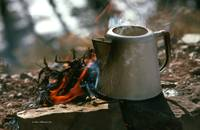 Coffee Pot on Campfire