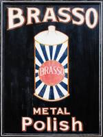 Brasso Metal Polish Old Retro Sign