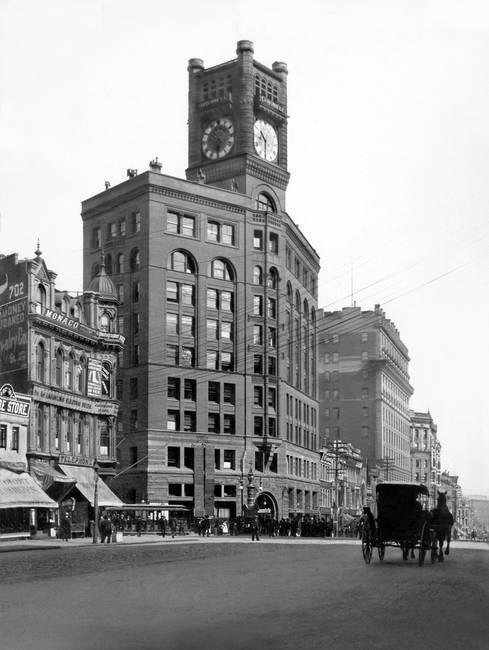 Chronicle Building, Market Street at Kearny, c. 19