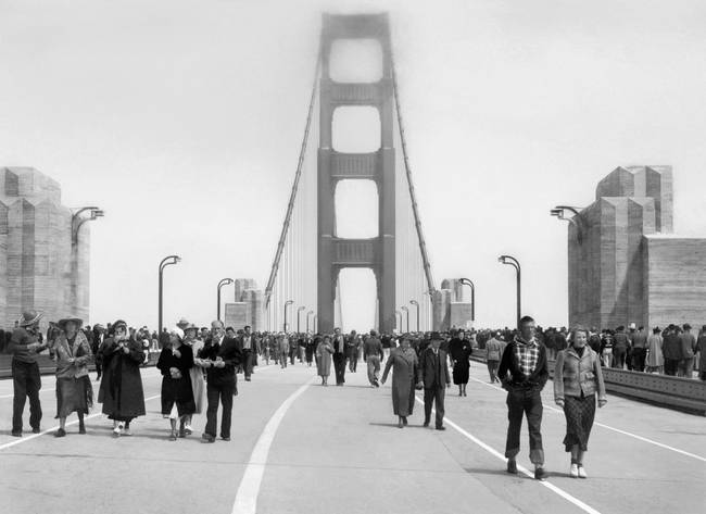 Pedestrian Day, Golden Gate Bridge, May 27, 1937