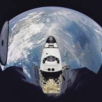 Fish Eye View of Space Shuttle Atlantis