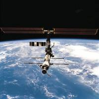 International Space Station View from Discovery