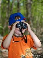 Kayleb with his binoculars