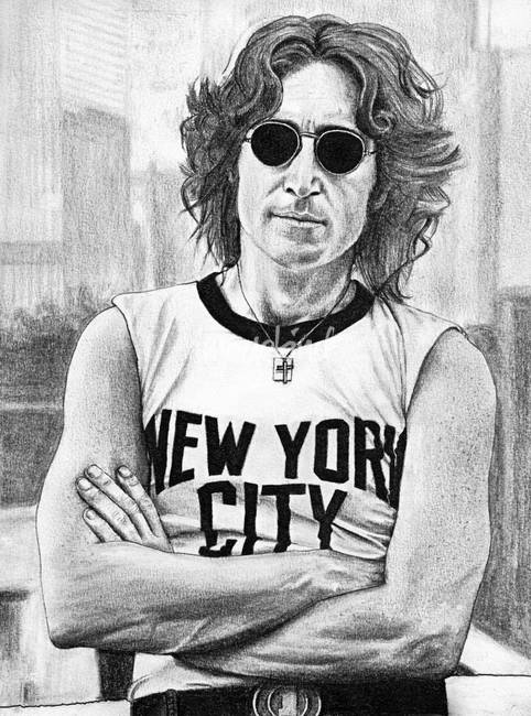 John Lennon Nyc By Michael Baker