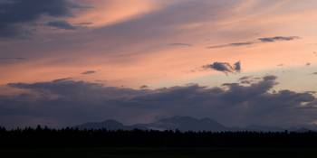 Sunset over the Kamnik Alps