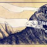 Godzilla panel detail by Derek Chatwood
