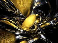 Gold Fever Abstract