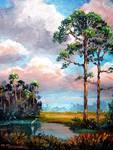 Florida Slash Pine Wilderness by Mazz Original Paintings
