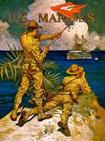 US Marines Signal Battleship