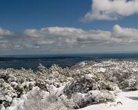 View of Frenchman's Bay & Atlantic from Dorr Mt.