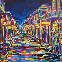 """Jazz on Bourbon Street"" by neworleansartist"
