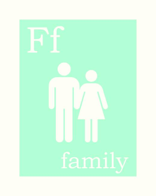 F is for Family • Columbia Blue