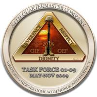 54th QM, Deployment coin 09 (Front Side)