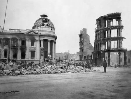 Ruins of Hibernia Bank Building, San Francisco 190
