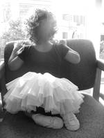 a child and her tutu