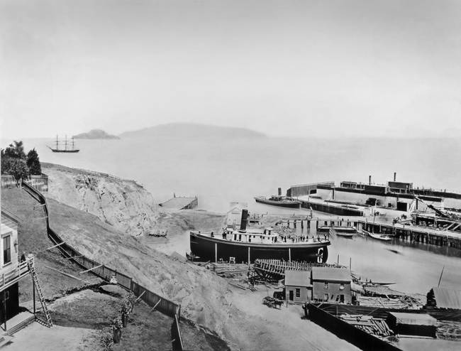 Ferry Boat from Telegraph Hill c1870