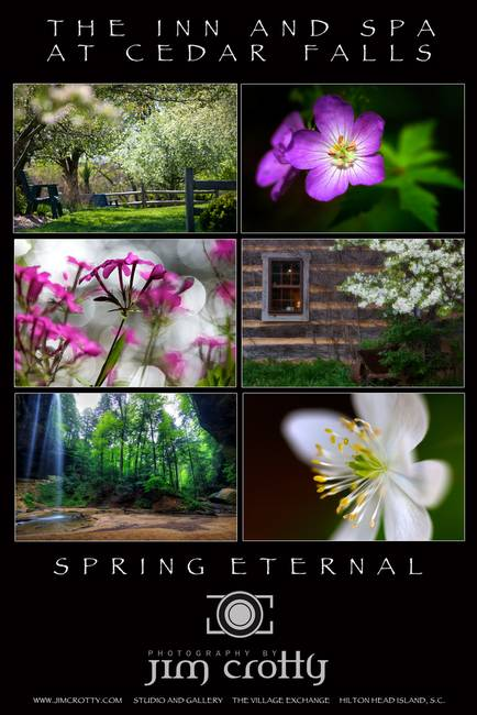 Spring Eternal at The Inn at Cedar Falls by Jim Crotty