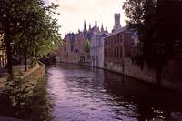Bruges Canal at Sundown 2002