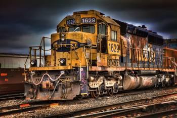 Bnsf Hdr Train Color Railroad Saginaw Texas By Curtis Wheat