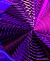 Abstract of a Purple & Cerise Cymbal