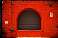 Old Loading Dock Dressed in Red