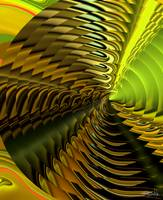 Abstract of a Yellow & Lime Cymbal