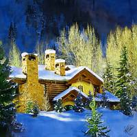 Winter Home in the Rockies