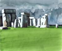 Stonehenge Watercolor